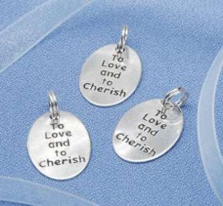 TO LOVE AND TO CHERISH Wedding Charms Silver Favors Gifts 20pc