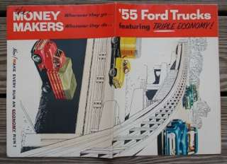 1955 Ford Truck Sales Brochure large 6 page