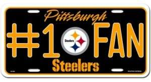FAN CAR / AUTO LICENSE PLATE PITTSBURGH STEELERS NFL