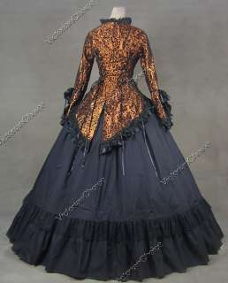 Gothic Lolita Brocade Satin Cotton Dress Ball Gown Prom C001 XL