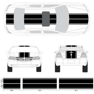 Dodge Avenger Dual Rally Racing Stripes, 3M Double Stripe Decals