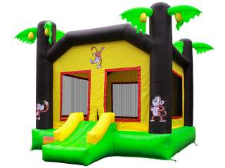 Commercial Grade Tropical Jungle Monkey Bounce Bouncy House Jumper