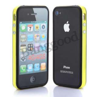 pcs Color For iPhone 4 4S TPU Bumper Frame Silicone Skin Case With
