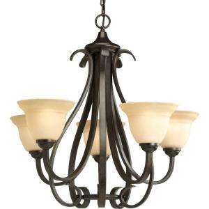 Progress Lighting Torino Collection Forged Bronze 5 Light Chandelier
