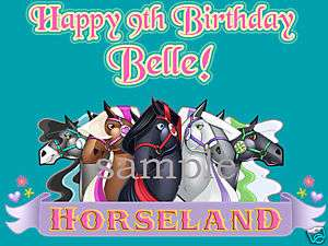 HORSELAND Edible CAKE Image Icing Topper Personalized