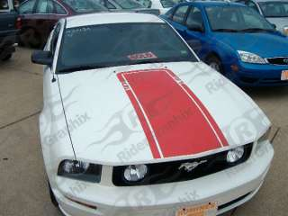 2005 & Up Ford Mustang Retro Mach 1 Hood Decal Stripe