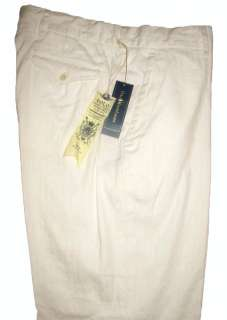 POLO RALPH LAUREN MENS CREAM LINEN COTTON DRESS / CASUAL PANTS