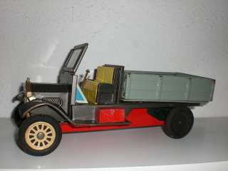 Old TIMER DELIVERY TRUCK ~ JAPANESE FRICTION TIN TOY ~ RUBBER TIRES