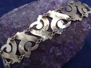 ANTONIO REINA TAXCO MEXICAN STERLING SILVER NOUVEAU BRACELET MEXICO