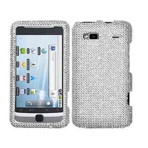 Silver Bling Rhinestone Faceplate Diamond White Clear Crystal