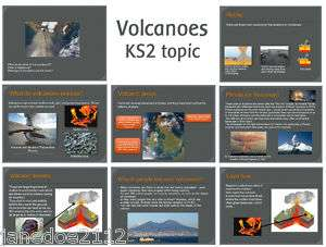 NATURAL DISASTERS VOLCANOES Primary IWB Teaching Resources