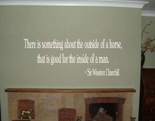 Sir Winston Churchill Horse Quote   Wall Decal Sticker