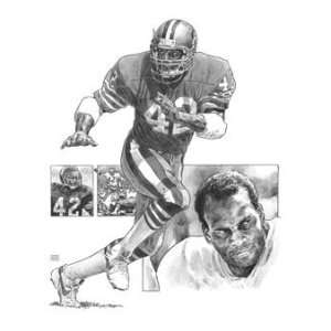 Ronnie Lott San Francisco 49ers Lithograph Sports