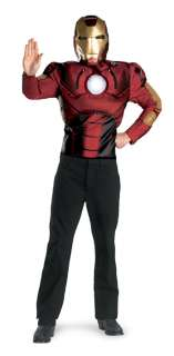 Adult Iron Man Muscle Costume   Iron Man Costumes   15DG7191