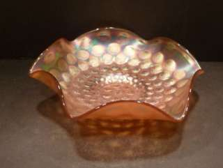 Fenton Carnival Marigold Stippled Coin Dot Bowl   MINT