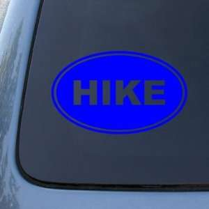 HIKE EURO OVAL   Hiking   Vinyl Car Decal Sticker #1715  Vinyl Color