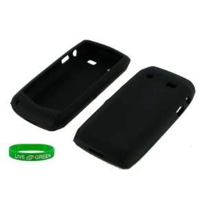 Black Silicone Skin Case for Blackberry Pearl 2 9100 Phone