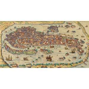 Old Venice Map Wooden Jigsaw Puzzle Toys & Games