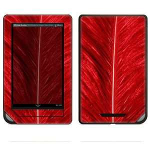 Nook Color Decal Sticker Skin   Red Feather