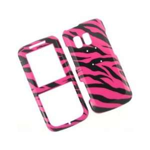 Plastic Phone Design Cover Case Hot Pink Zebra For Samsung Messager