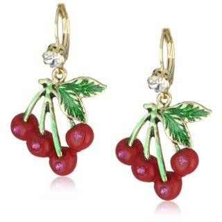 Betsey Johnson Iconic Ombre Rose Bow Drop Earrings Jewelry