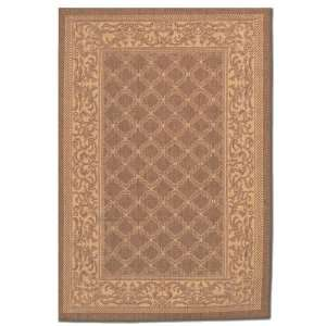 Couristan Recife Collection Garden Lattice Rug   Cocoa & Natural
