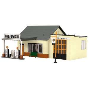 O Country Gas Station, Harley Davidson MTH3090327 Toys