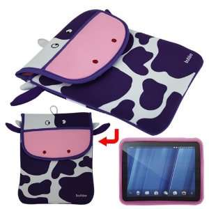 10.1 inch)+Skque Pink Silicone Skin Case for HP Touch Pad Electronics