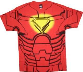 Iron Man Red Costume T Shirt Tee Clothing