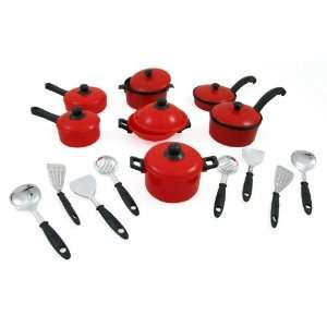 and Pans Kitchen Cookware Playset for Kids with Cooking Utensils Set