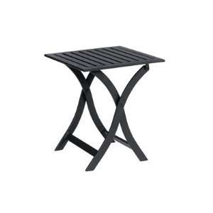 Iron 18 Square Metal Textured Black Patio Dining Table Patio, Lawn