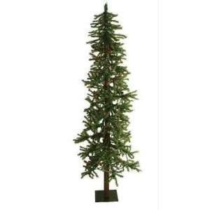 7 Pre Lit Natural Alpine Artificial Christmas Tree