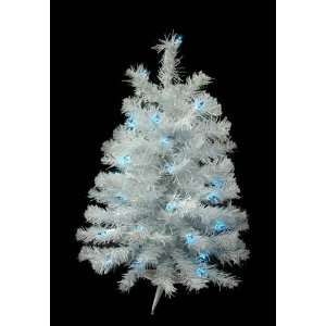Shimmering White Iridescent Pre Lit Artificial Christmas Tree