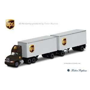 UPS Mack truck with double 28 trailers  Toys & Games