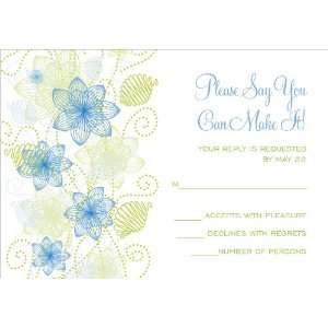 Floral Extravaganza Blue & Green Response Cards