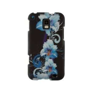 Phone Protector Cover Case Blue Flowers For Samsung Focus S Cell