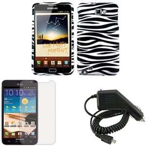 LCD Screen Protector + Rapid Car Charger for Samsung Galaxy Note i717