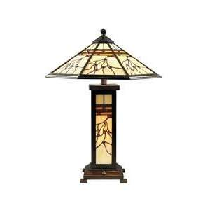 Dale Tiffany Mission Hills 3 Light Table Lamp TT70331
