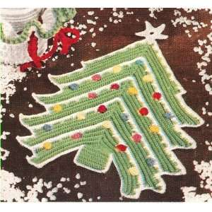 Vintage Crochet PATTERN to make   Christmas Xmas Tree Pot
