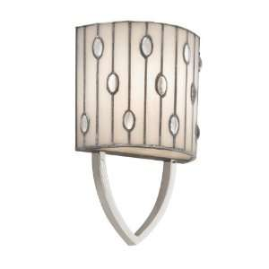 Cloudburst Collection 1 Light 11ö Polished Nickel Wall Sconce with