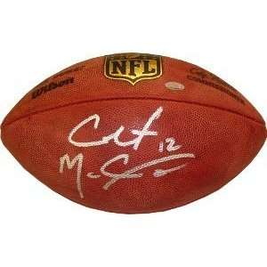 Colt McCoy Autographed/Hand Signed Official NFL New Duke