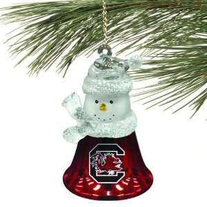 NCAA South Carolina Gamecocks Snowman Bell Ornament