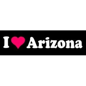 8 I Love Heart Arizona State Vinyl Decal Sticker