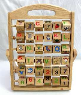 Wooden German Alphabet & Numbers Blocks Easel TCM