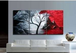 Asian style Modern Abstract Huge Art Oil Painting Canvas Large Tree