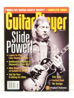 GUITAR PLAYER MAGAZINE DUANE ALLMAN B.B. KING VERNON REID MR BUNGLE