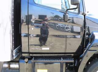 08 HINO 258 BOX TRUCK 18FT BLACK HI CUBE SIDE STEP DOOR LOW PRO tow