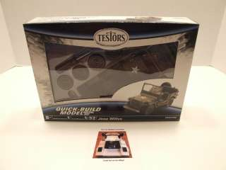 Testors Diecast Model Kit Willys WWII Army Military Jeep Scale 132