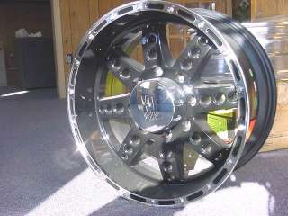 18X9 BLACK XD SERIES DIESEL CHEVY DODGE RAM WHEELS