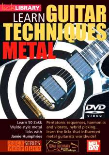 Learn Guitar Techniques METAL ZAKK WYLDE style DVD